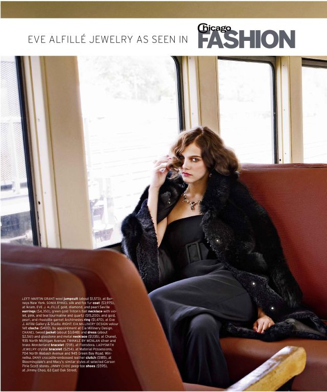 Eve J. Alfille Chicago FASHION Magazine