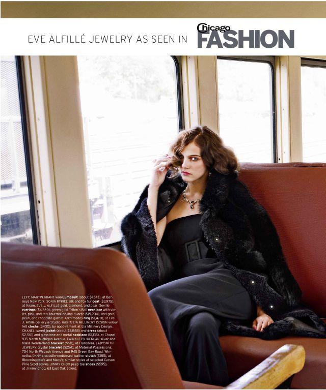 Eve J. Alfille Chicago FASHION Magazine