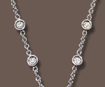 Diamond Chain of 18 karat white gold and diamonds