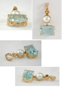 To This: AquaMarine Pendant