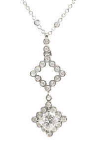 Diamonds and Platinum Pendant