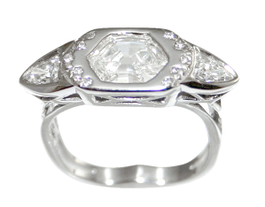 Diamond Ring Set in Palladium