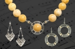 """Jazz Age"" Featured Earrings and Necklace"