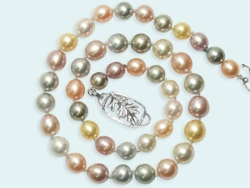 Promise of Spring pearl necklace by jewelry designer Eve J Alfille