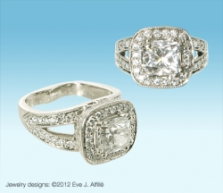 Custom Diamond Engagement Ring by Eve Alfille
