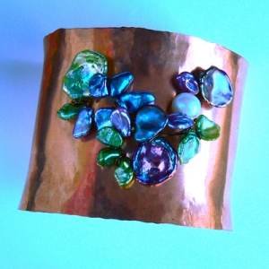 Giverny Cuff by Ariel Arwnen Design