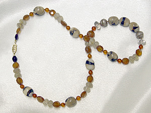 """Dream Series necklace """"Autumn Festivities"""" by Eve J. Alfille"""