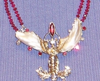 Natural American Angel Wing pearl necklace