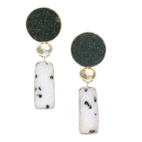 Night Snow Moon Earrings