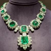 Liz Taylor's Emerald & Diamond Necklace
