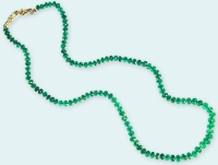 Green with Envy Emerald Necklace by Eve J Alfille